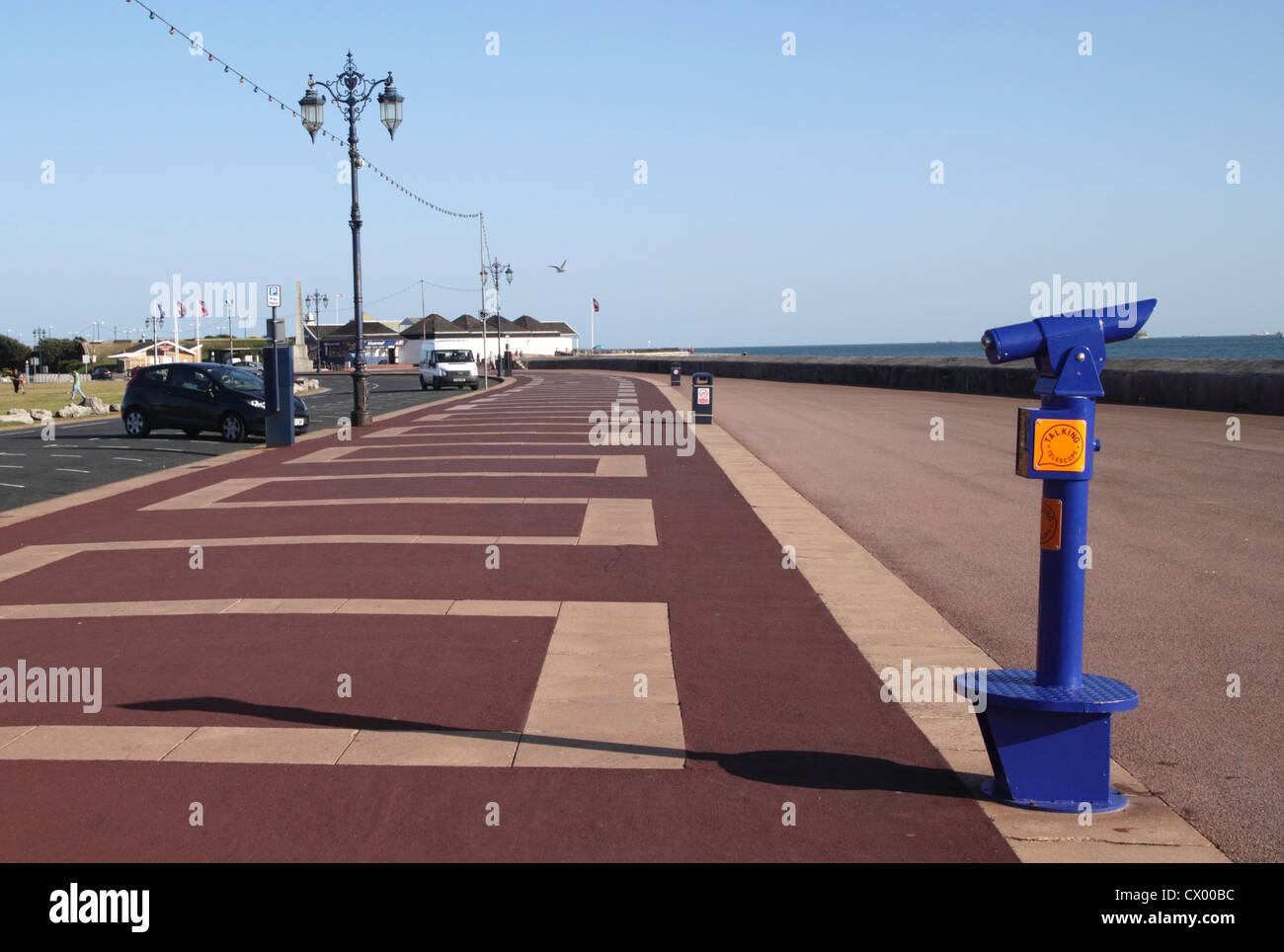 Clarence Esplanade at Southsea seafront Portsmouth Hampshire Stock Photo