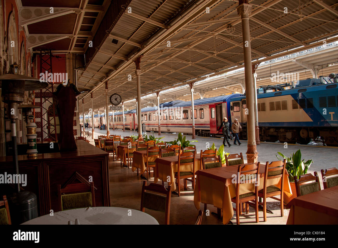World famous Sirkeci station the terminal for the Oriental Express in Istanbul - Stock Image