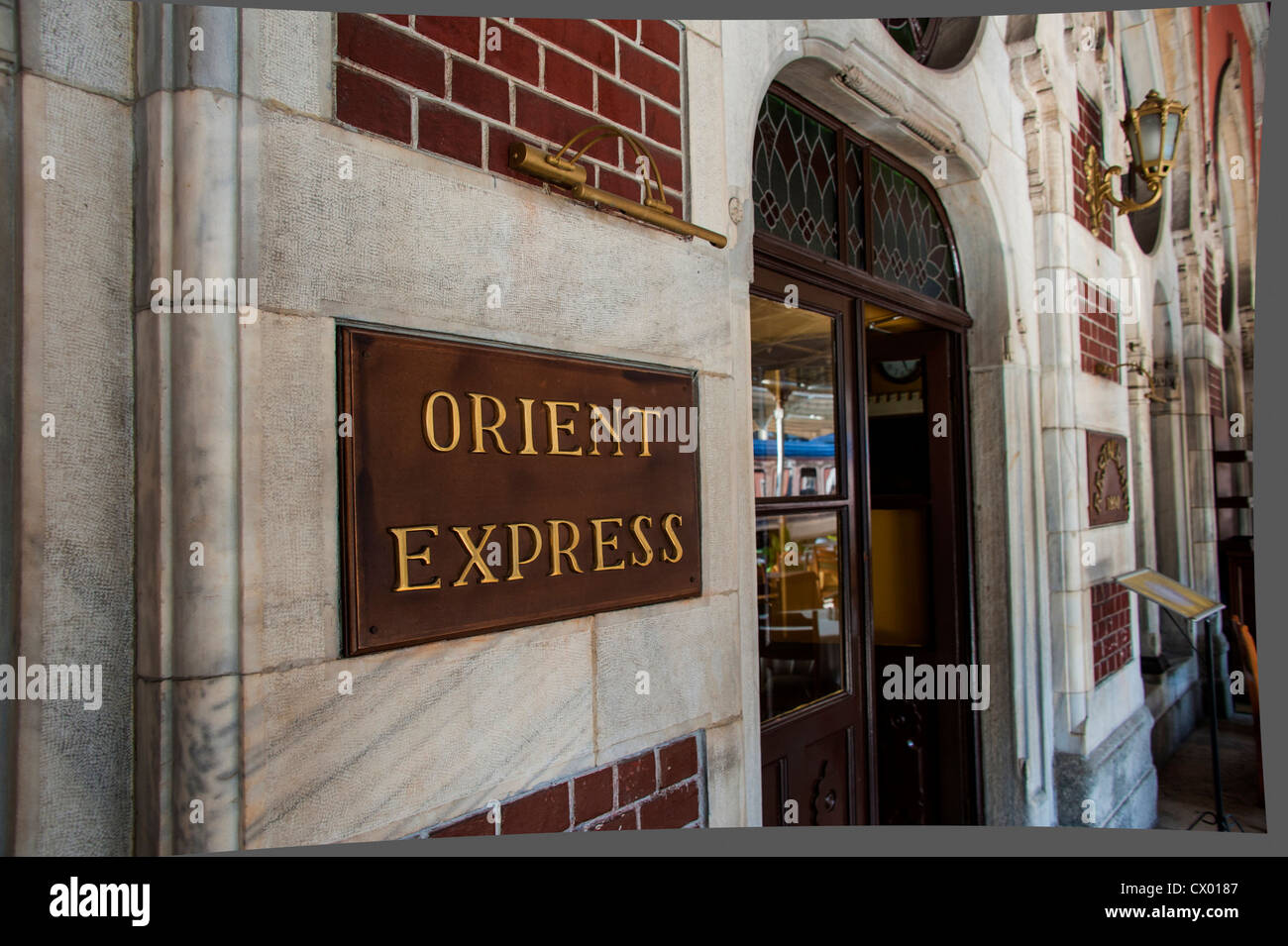world famous Sirkeci station the terminal for the Oriental Express - Stock Image