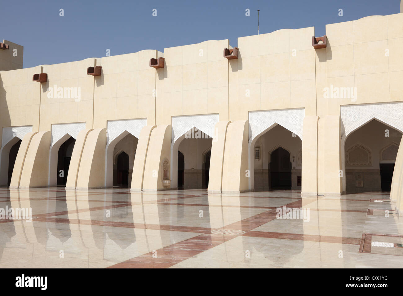 The Qatar State Grand Mosque in Doha, Middle East Stock Photo