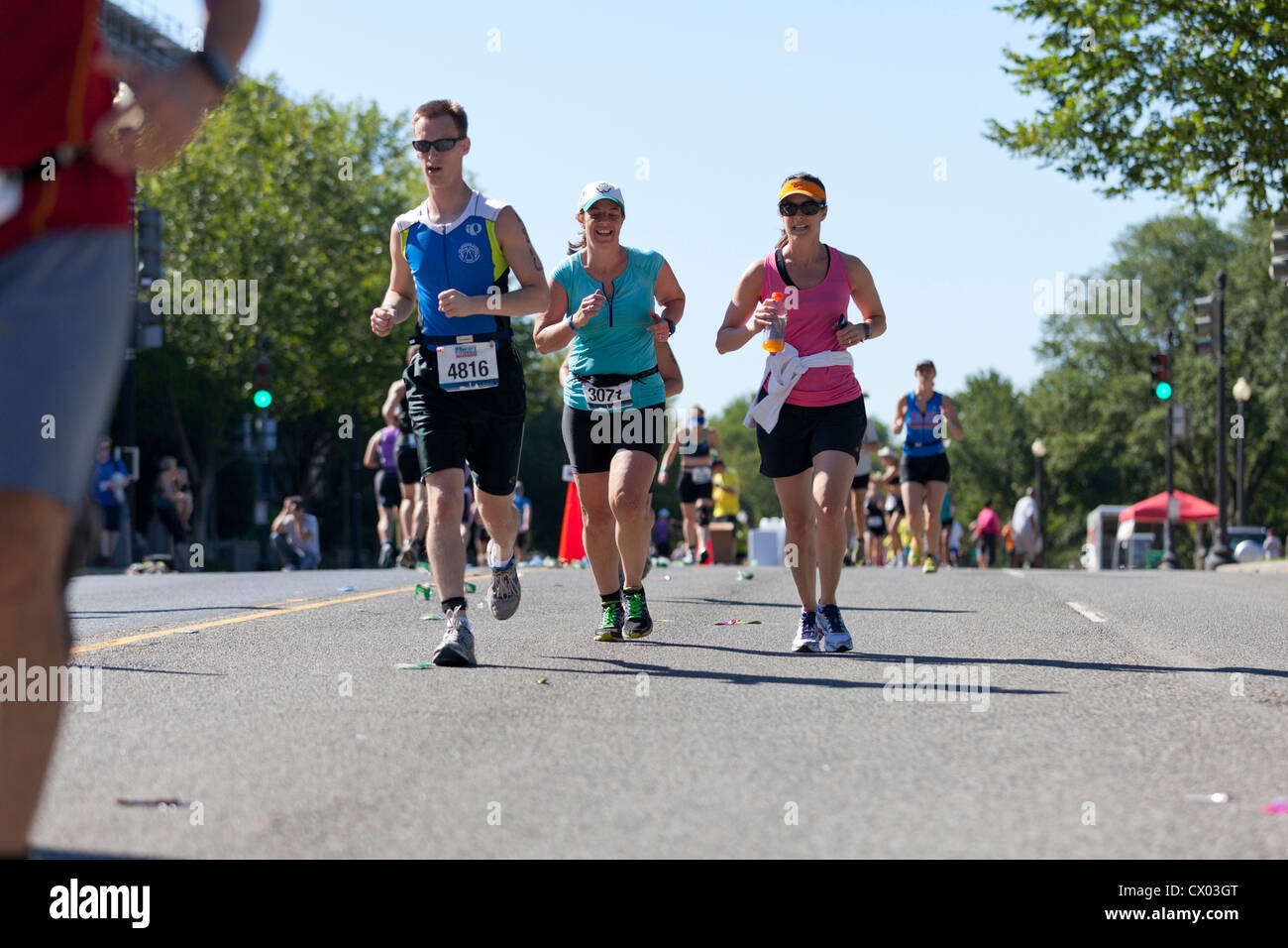 Runners in a marathon - Stock Image