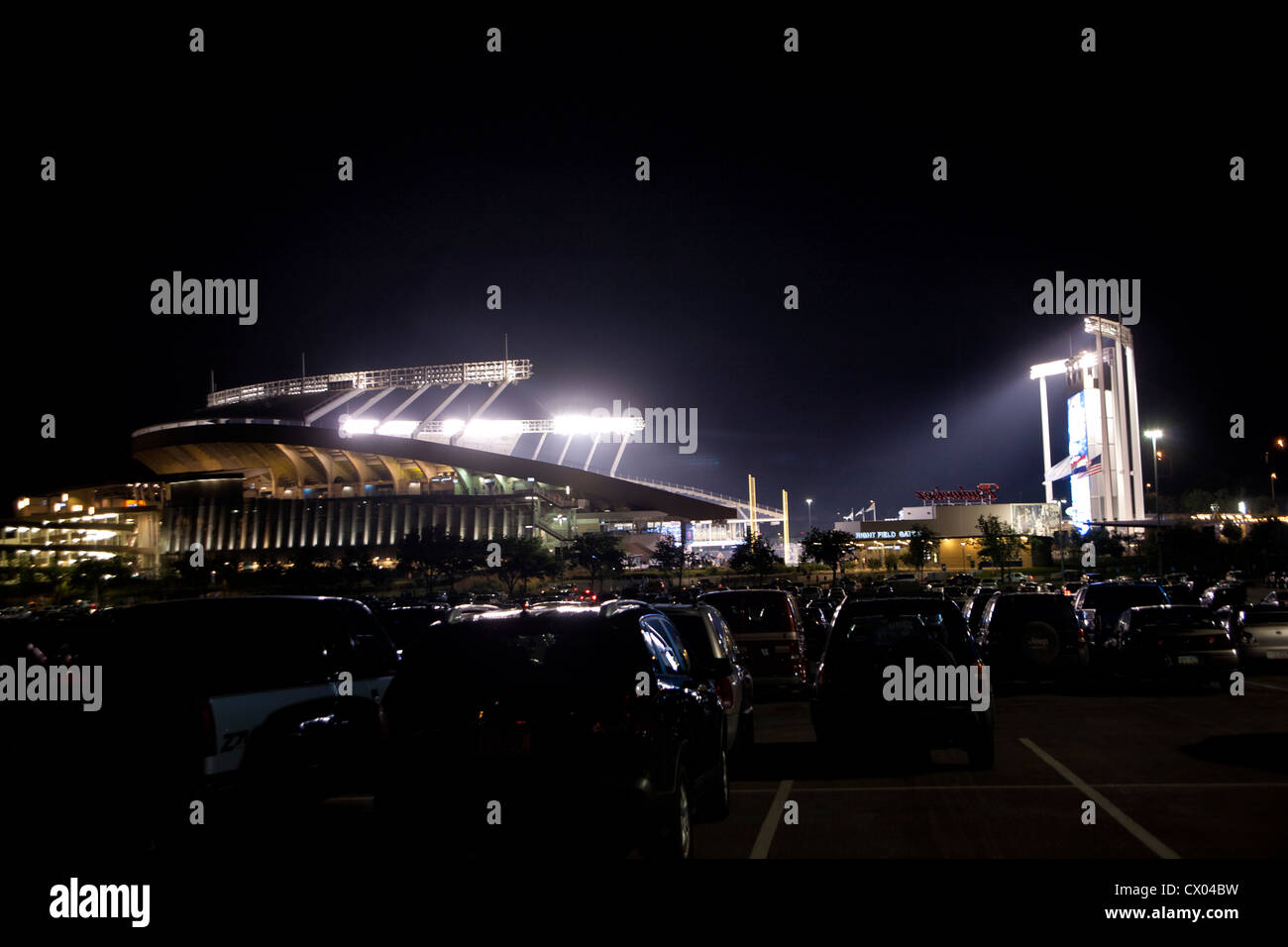 Kauffman Stadium - Kansas City Royals - Stock Image
