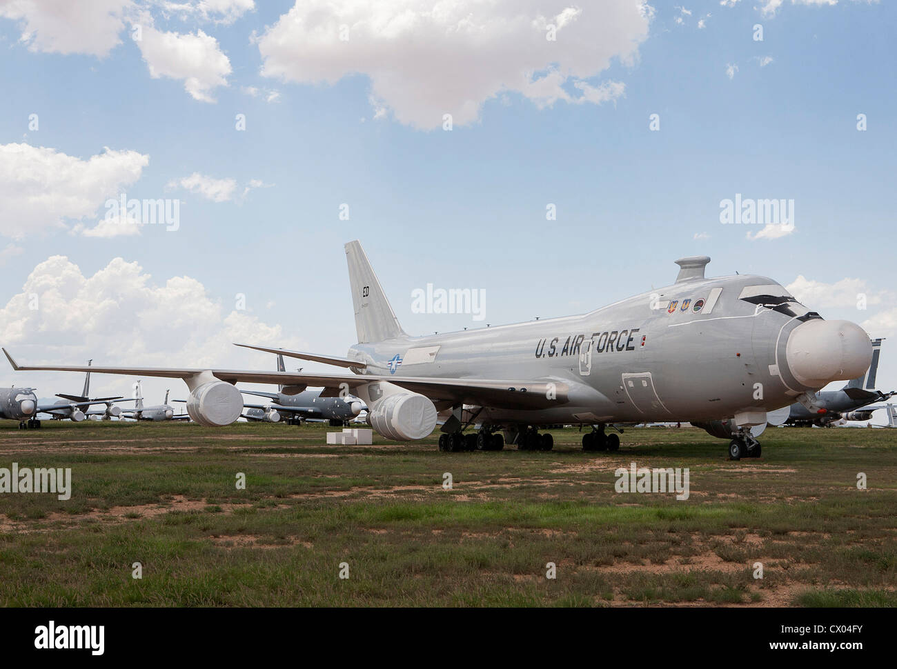 The Boeing YAL-1 Airborne Laser aircraft in storage at the 309th Aerospace Maintenance and Regeneration Group at - Stock Image