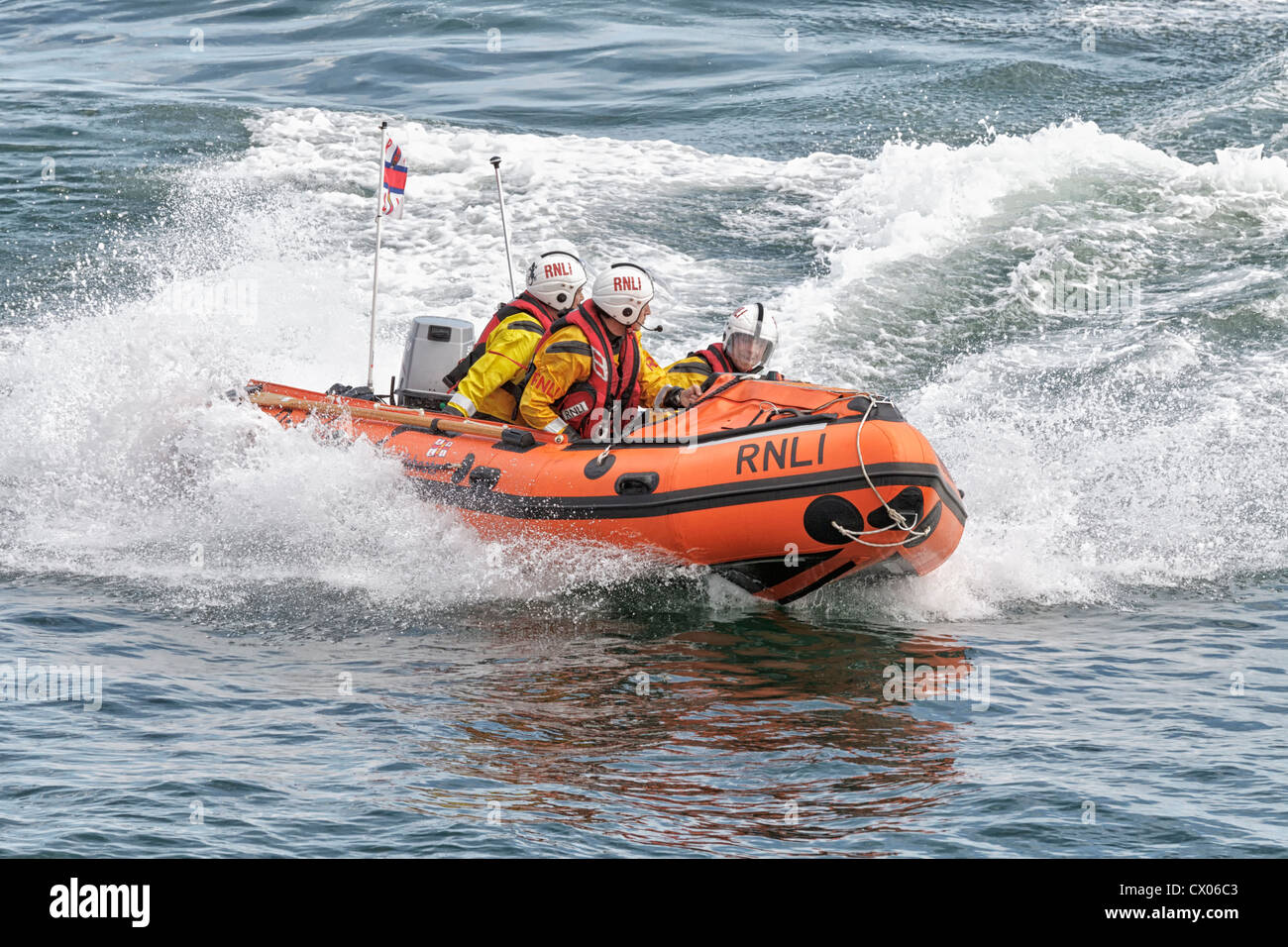 Cromer inshore Lifeboat to the rescue - Stock Image