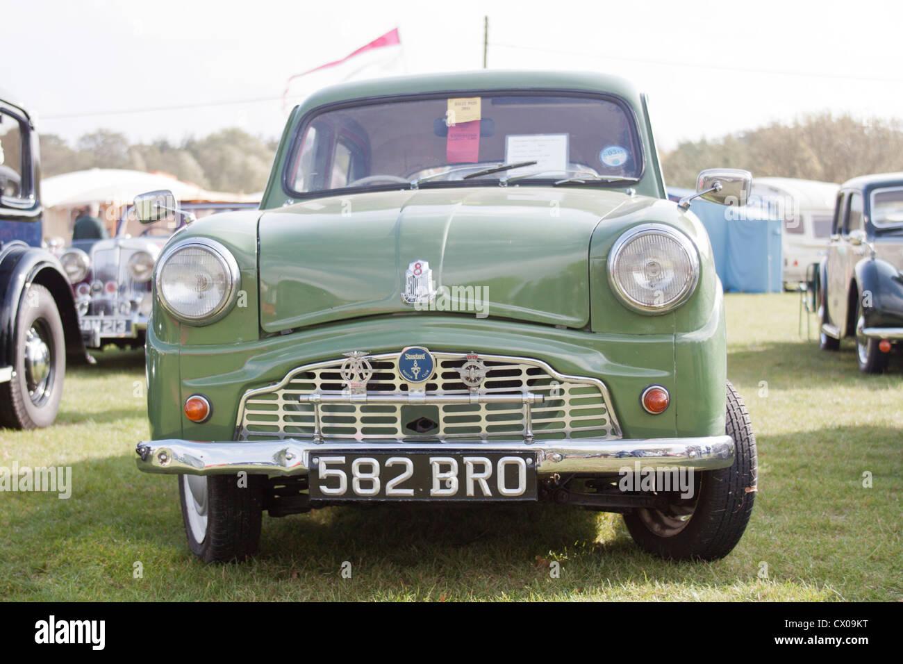 1957 Standard 8 at Malvern Autumn Show - Stock Image