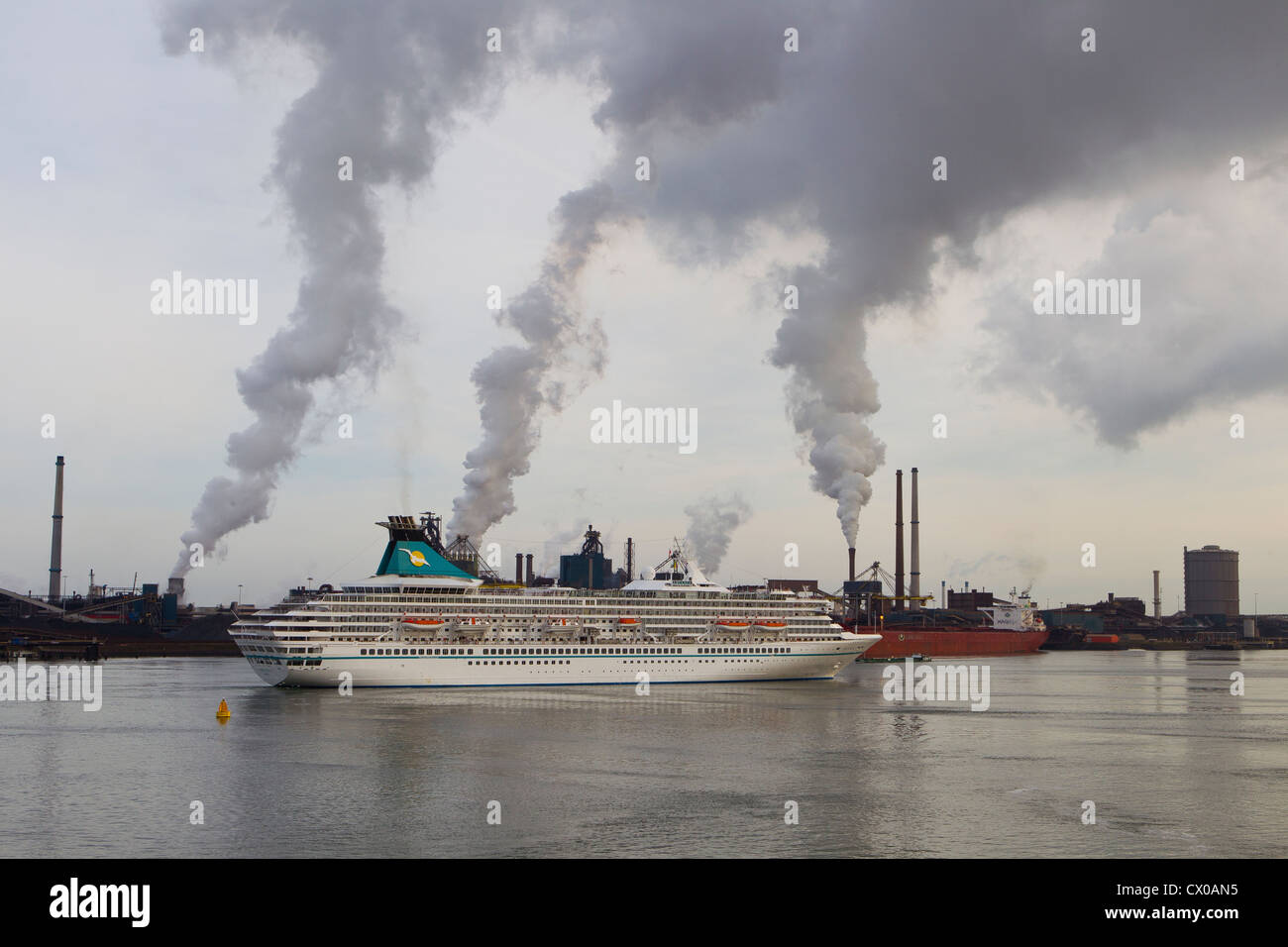 artania cruise passenger liner ship ijmuiden port - Stock Image