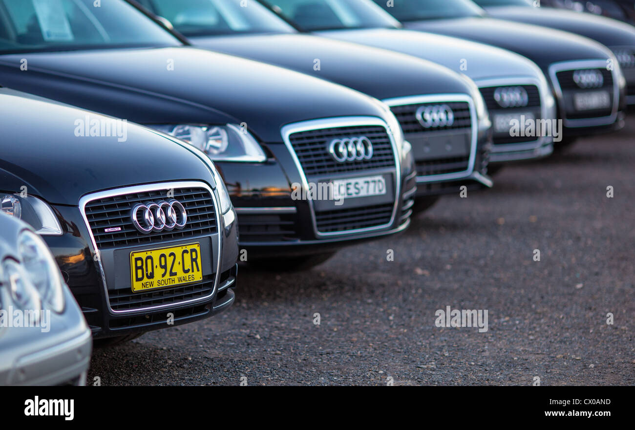 Audi Cars Line Stock Photos Audi Cars Line Stock Images Alamy - Audi car lineup