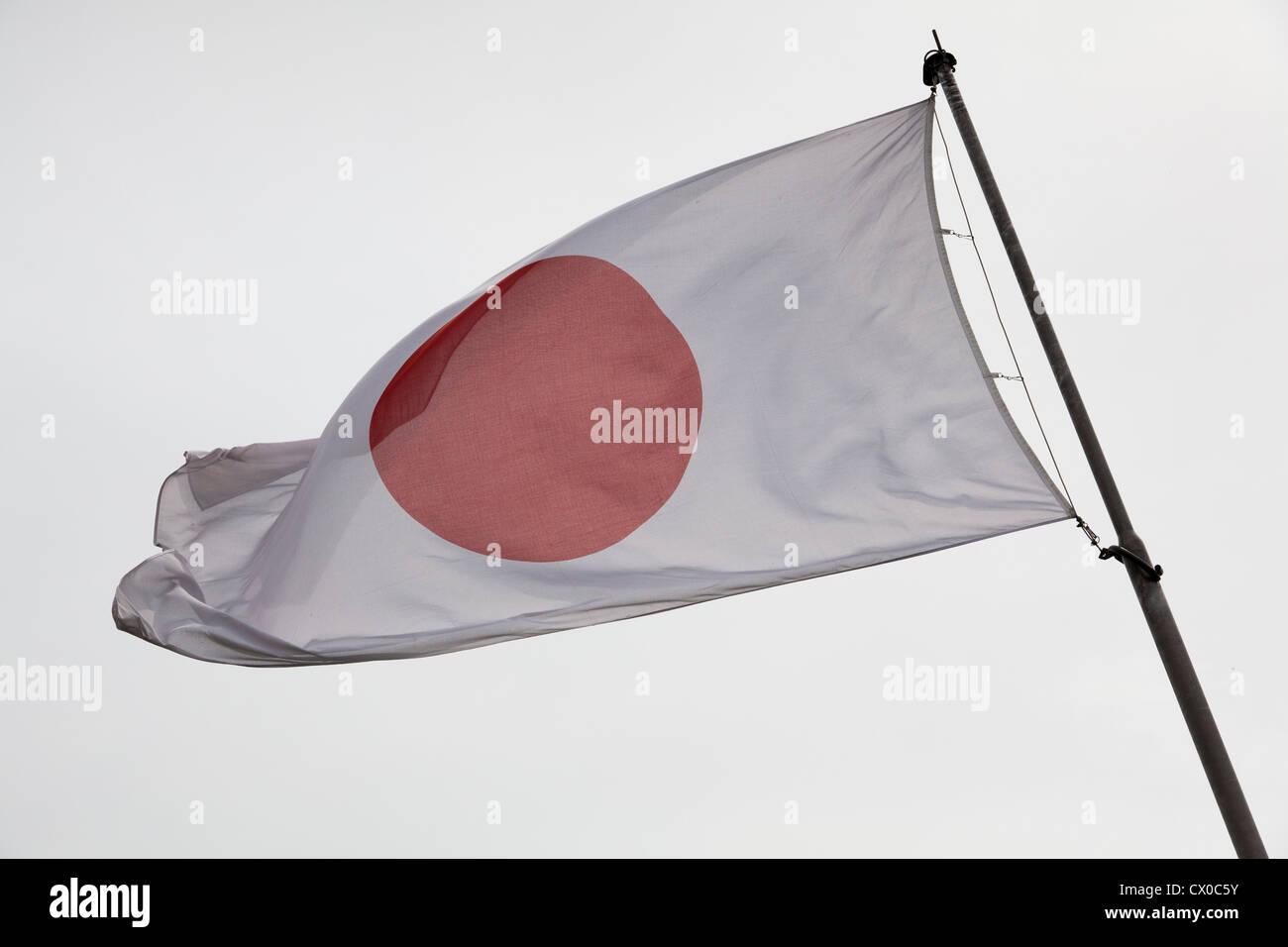 Japanese national flag - Stock Image