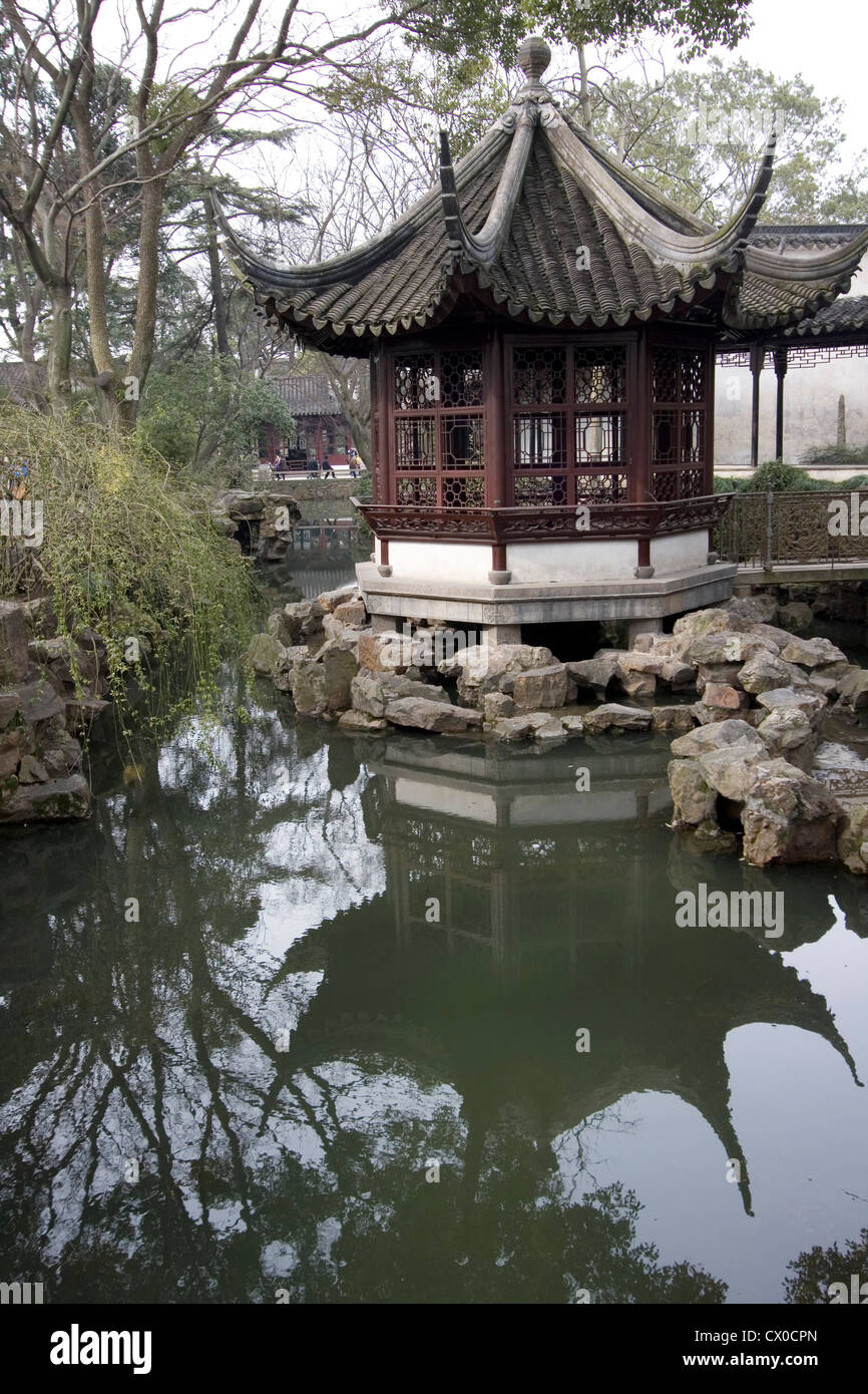 Pagoda In The Humble Administrator S Gardens Suzhou China Stock