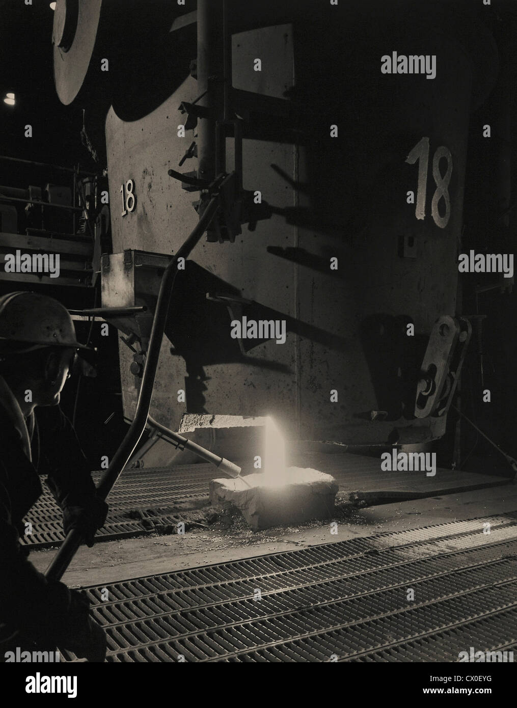 Addition of Lead by Re Ladling Process British Steel Sheffield England UK - Stock Image