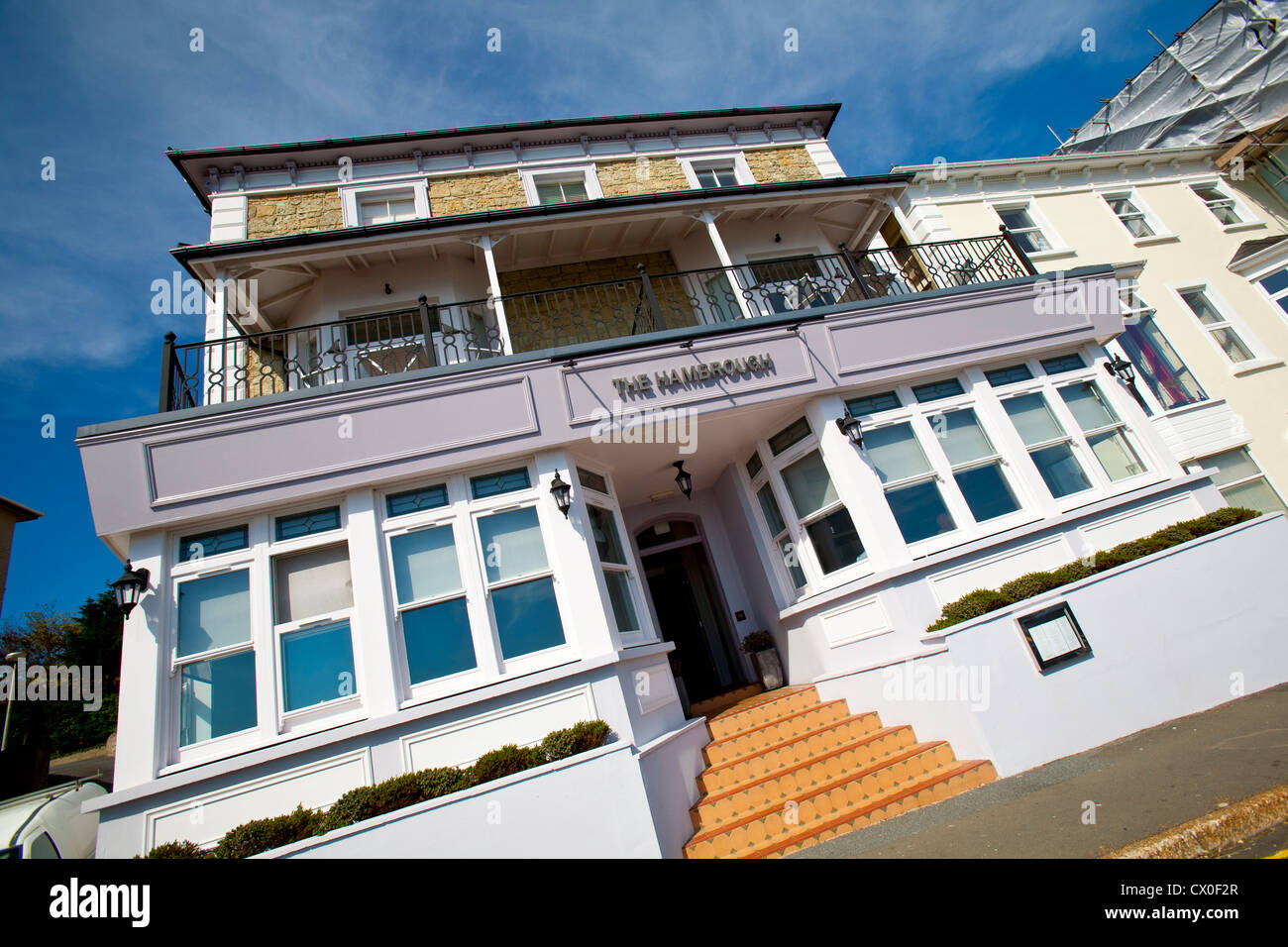 The Hambrough, Hotel, Restaurant, Robert Thompson, Ventnor, Isle of Wight, England, UK, - Stock Image