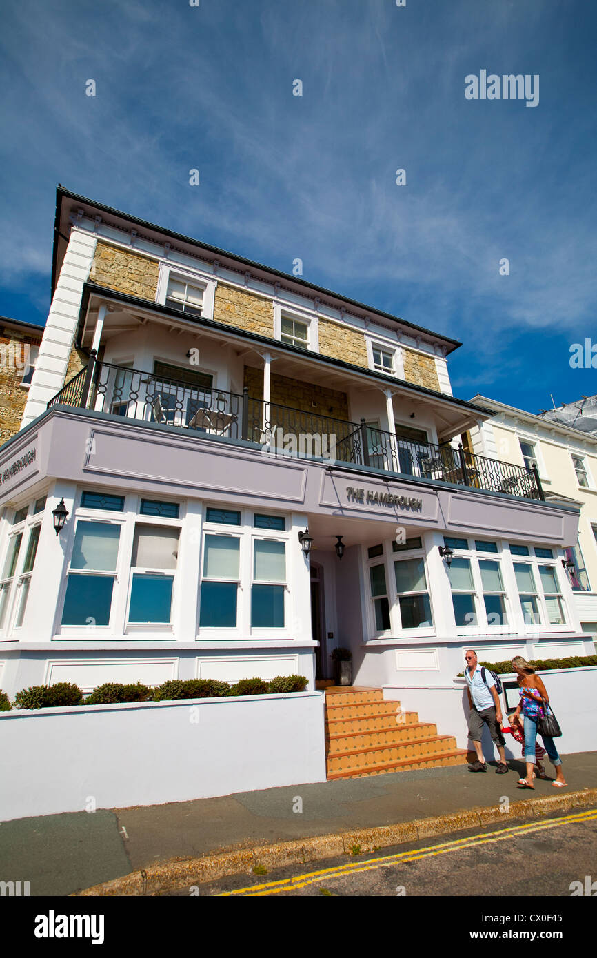 The Hambrough, Hotel, Restaurant, Robert Thompson, Ventnor, Isle of Wight, England, UK, - Stock Image