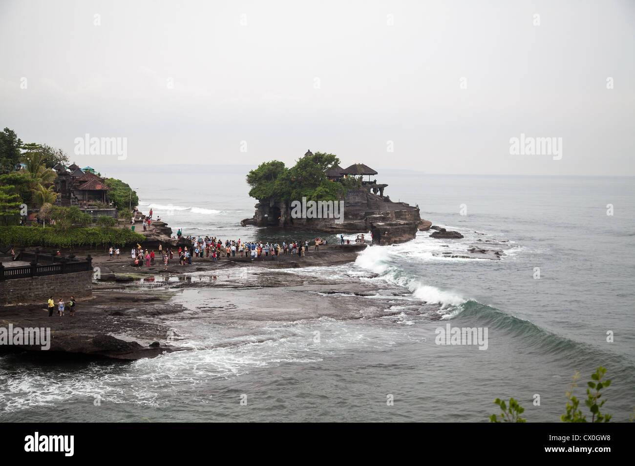 View onto the Temple Pura Tanah Lot Stock Photo