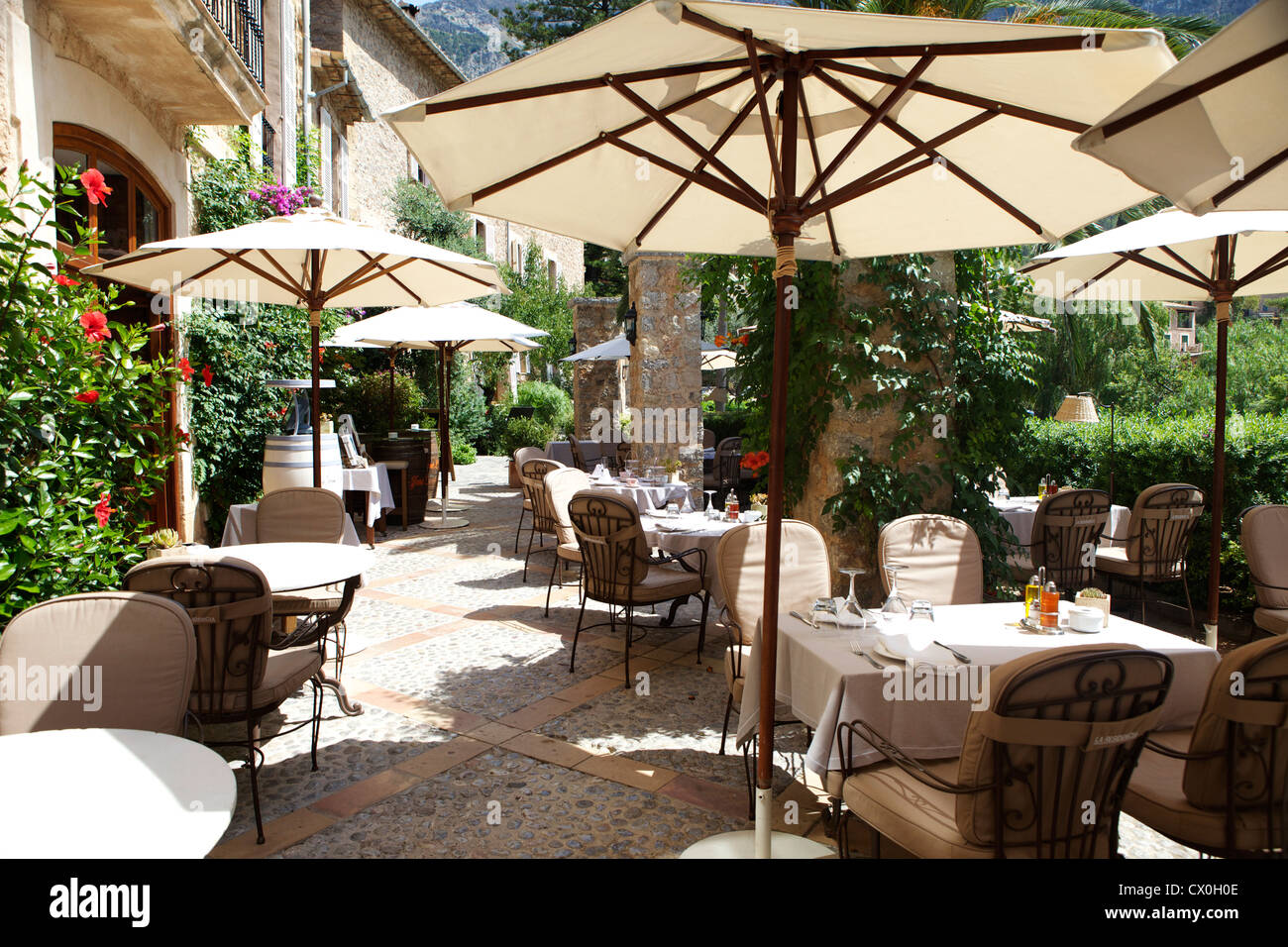 The Belmond La Residencia Hotel on the Balearic Island of Mallorca. One of the leading hotels in the world, often Stock Photo