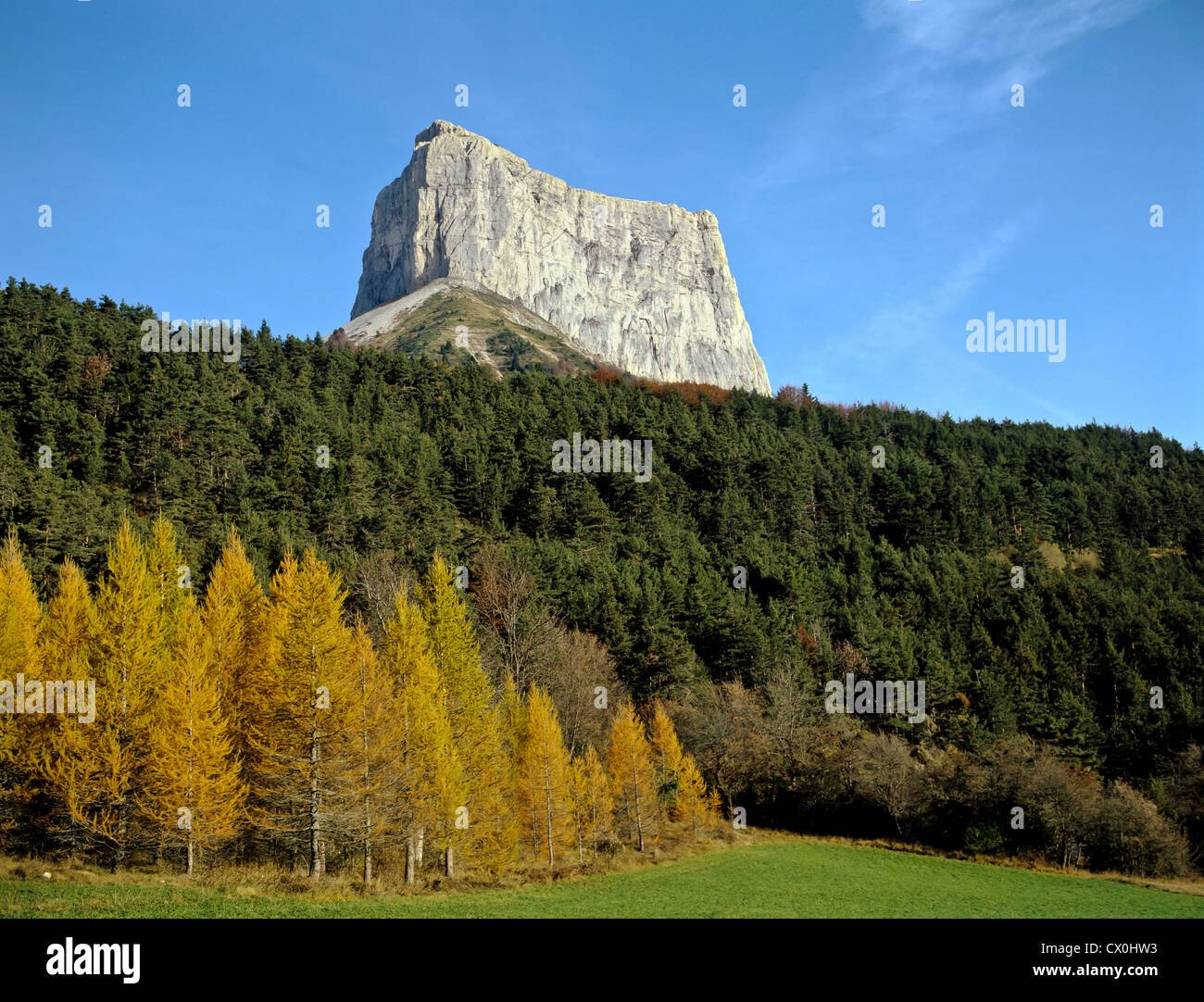 8123. Mt Aiguille 2086m, Alps, France - Stock Image
