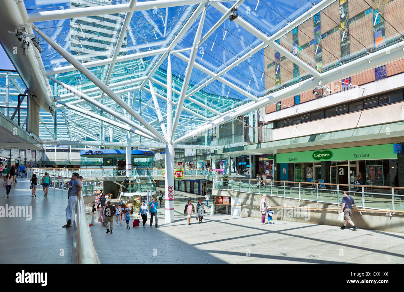 Inside Lower Precinct Shopping Centre Coventry Warwickshire England UK GB EU Europe - Stock Image
