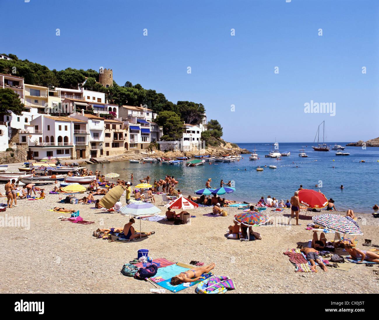 8129. Cala sa Tuna, Costa Brava, Spain - Stock Image