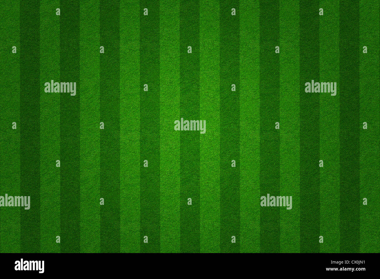 green grass soccer field background - Stock Image
