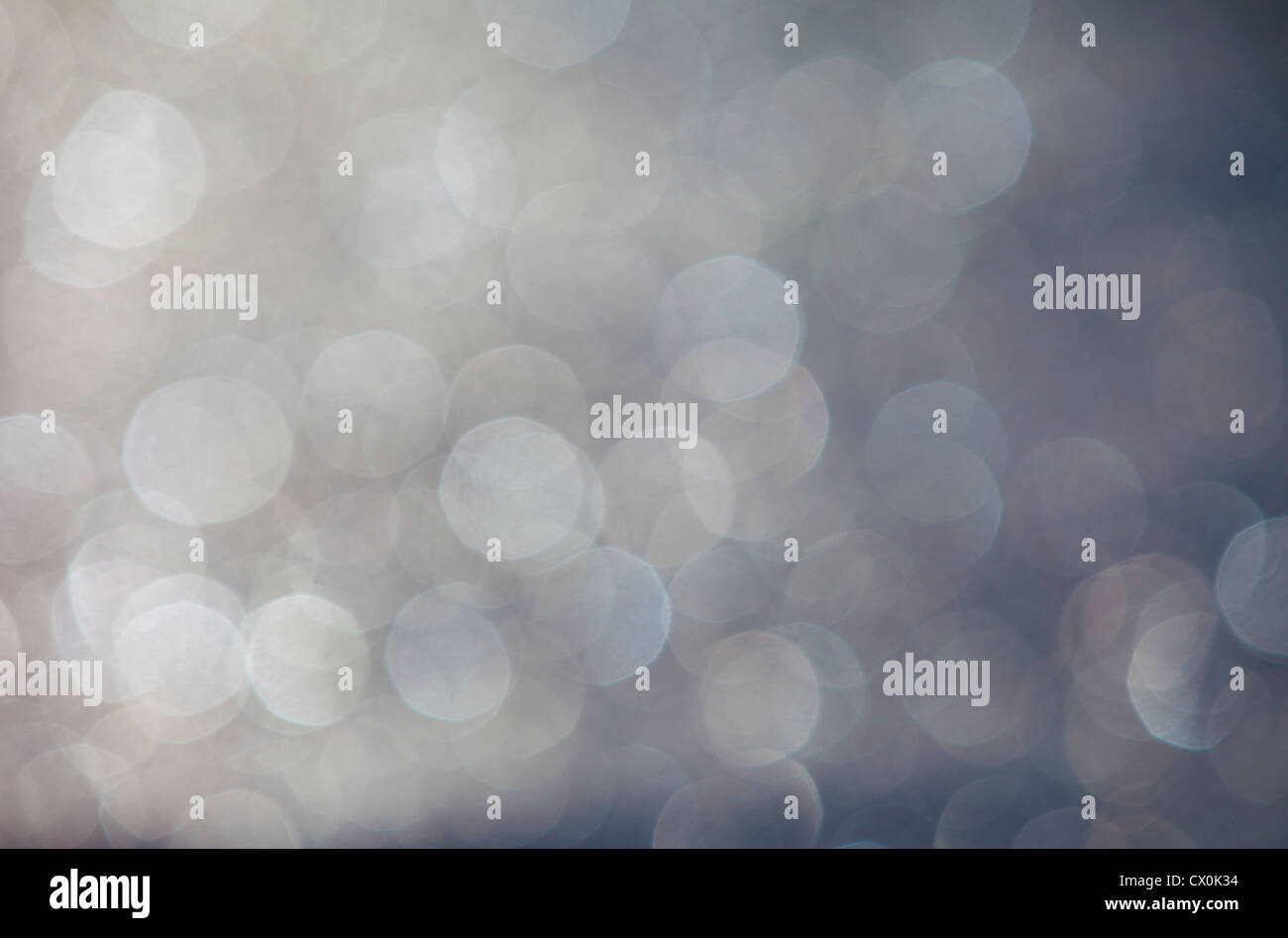 Blurry light spots , bokeh - Stock Image