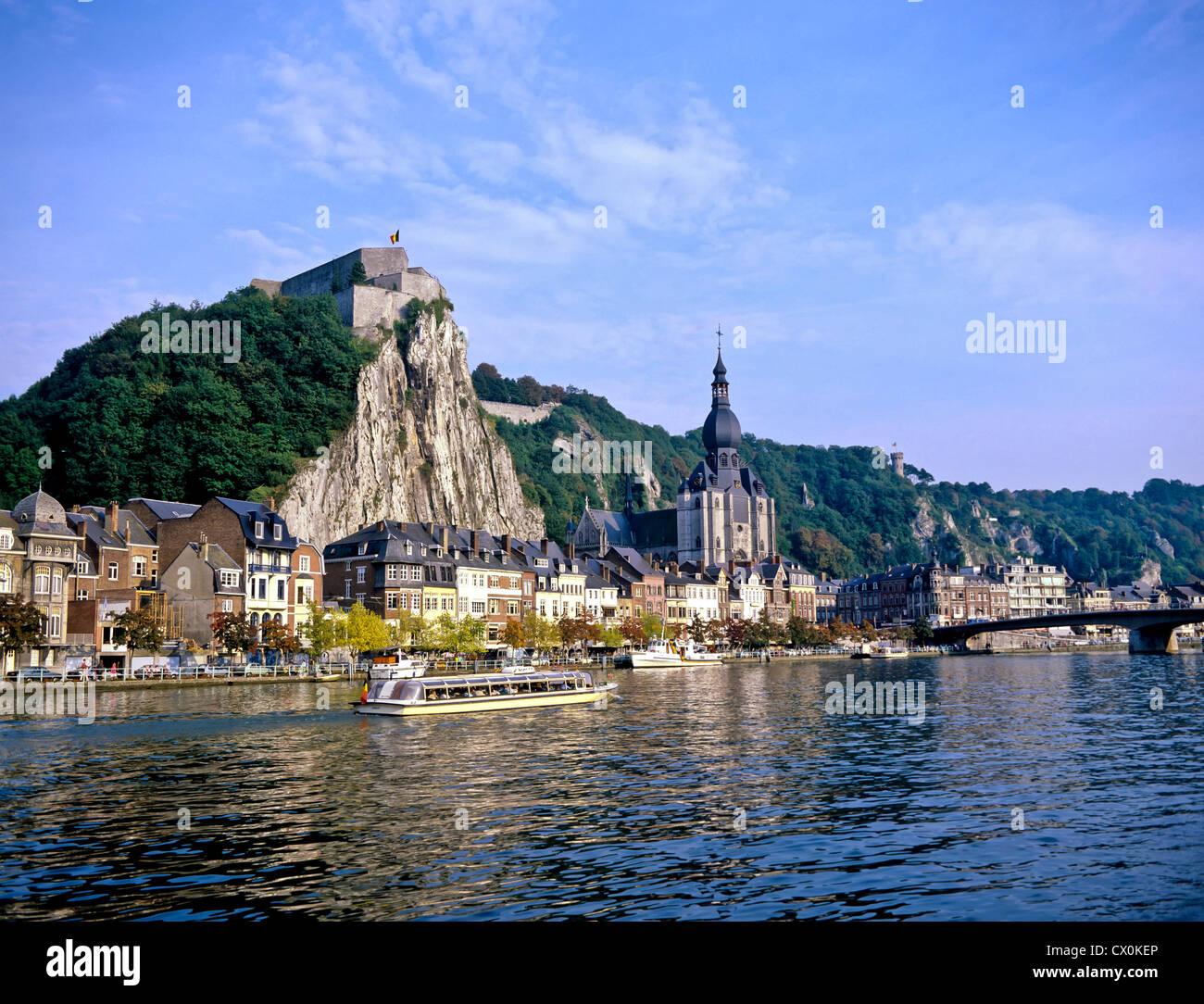 8160. Dinant & R Meuse, Ardennes, Belgium, Europe - Stock Image