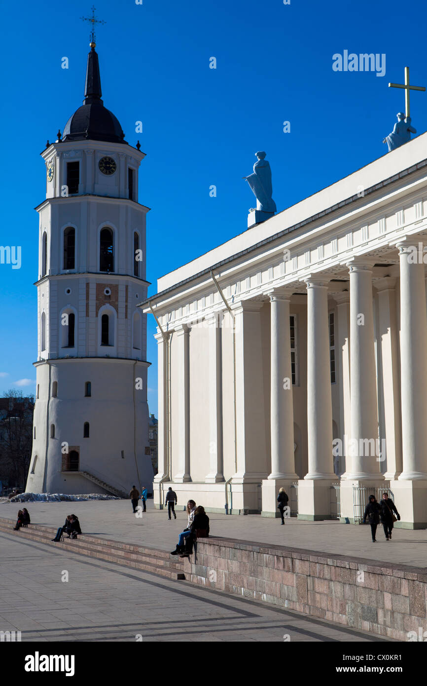 Cathedral square Vilnius Lithuania Stock Photo