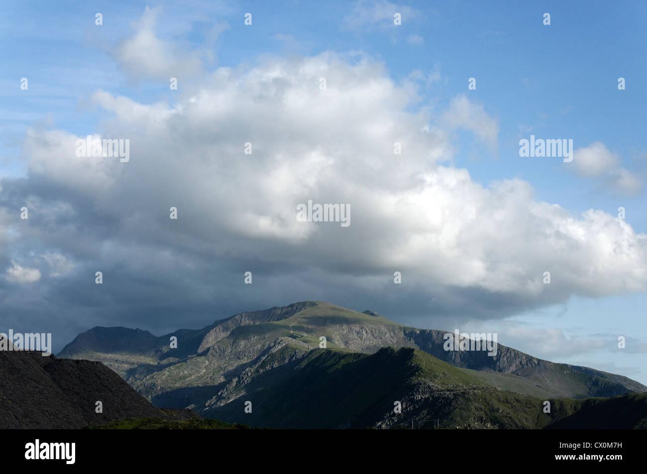 The Snowdon massif Stock Photo