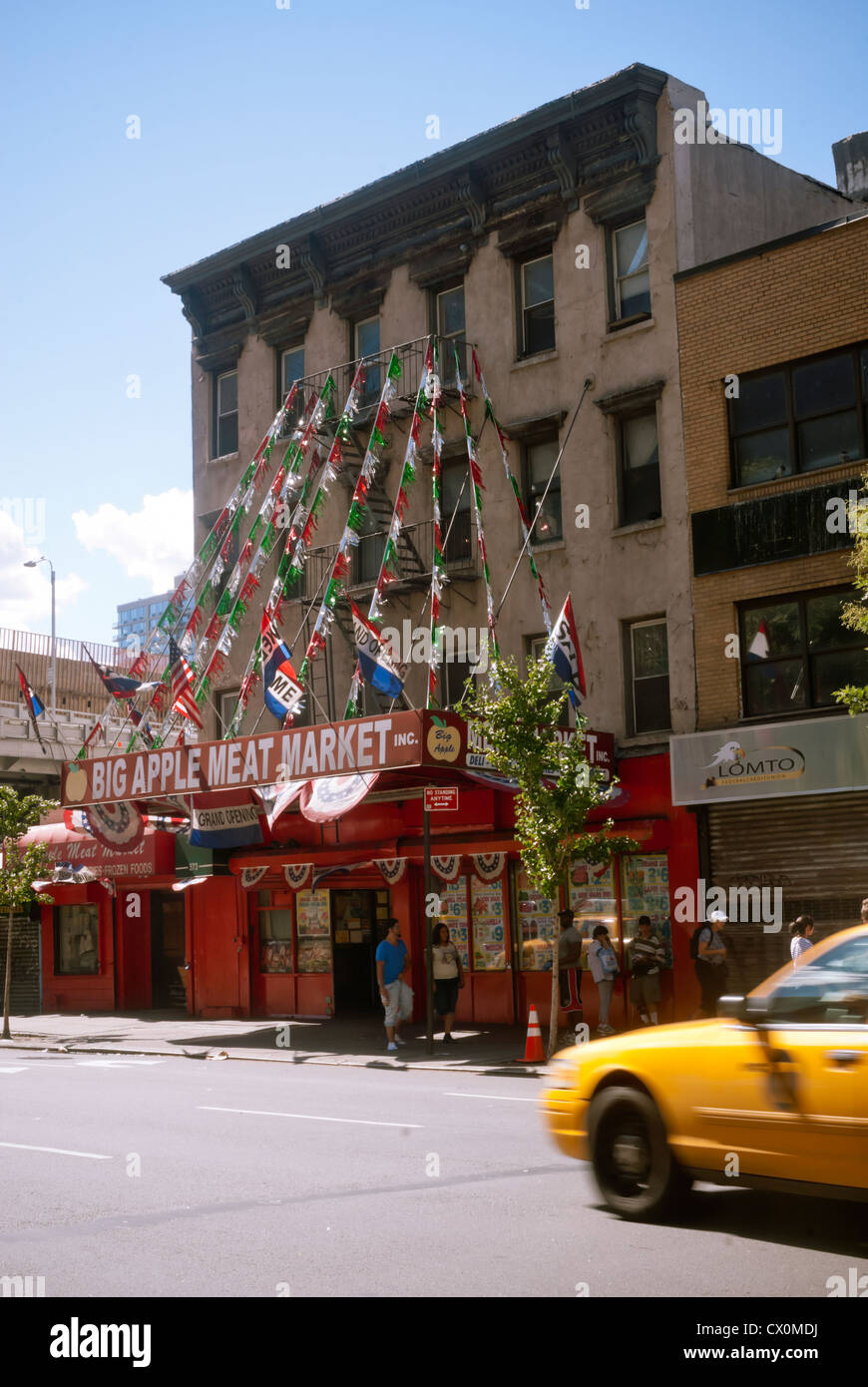 the big apple meat market in the hells kitchen neighborhood of new york - Hells Kitchen Neighborhood