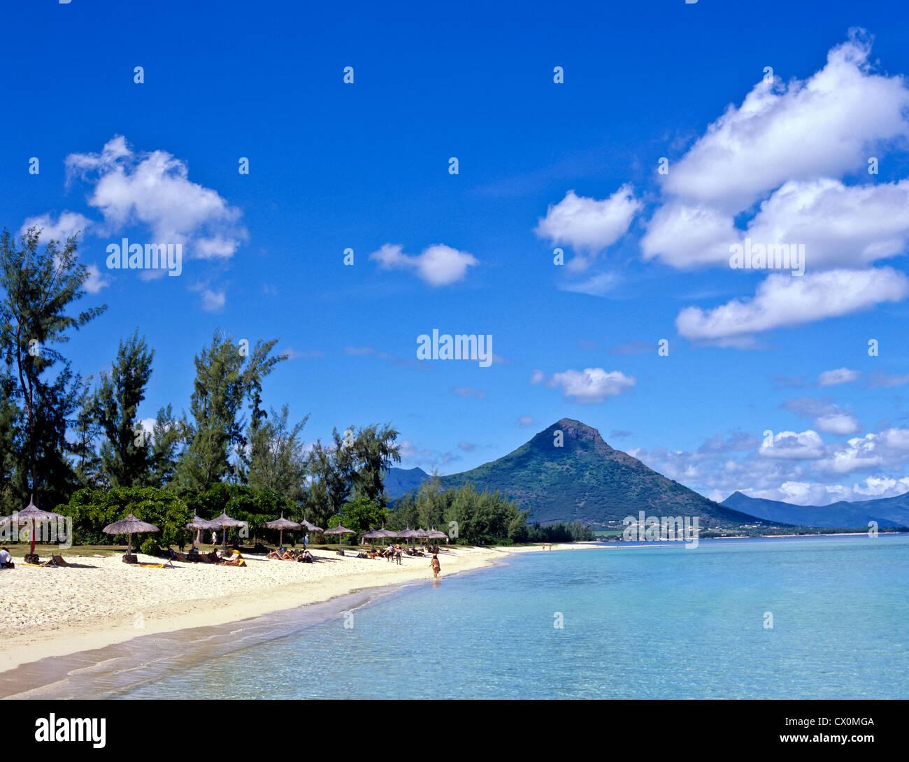 8196. Flik 'n Flak Beach, Mauritius - Stock Image