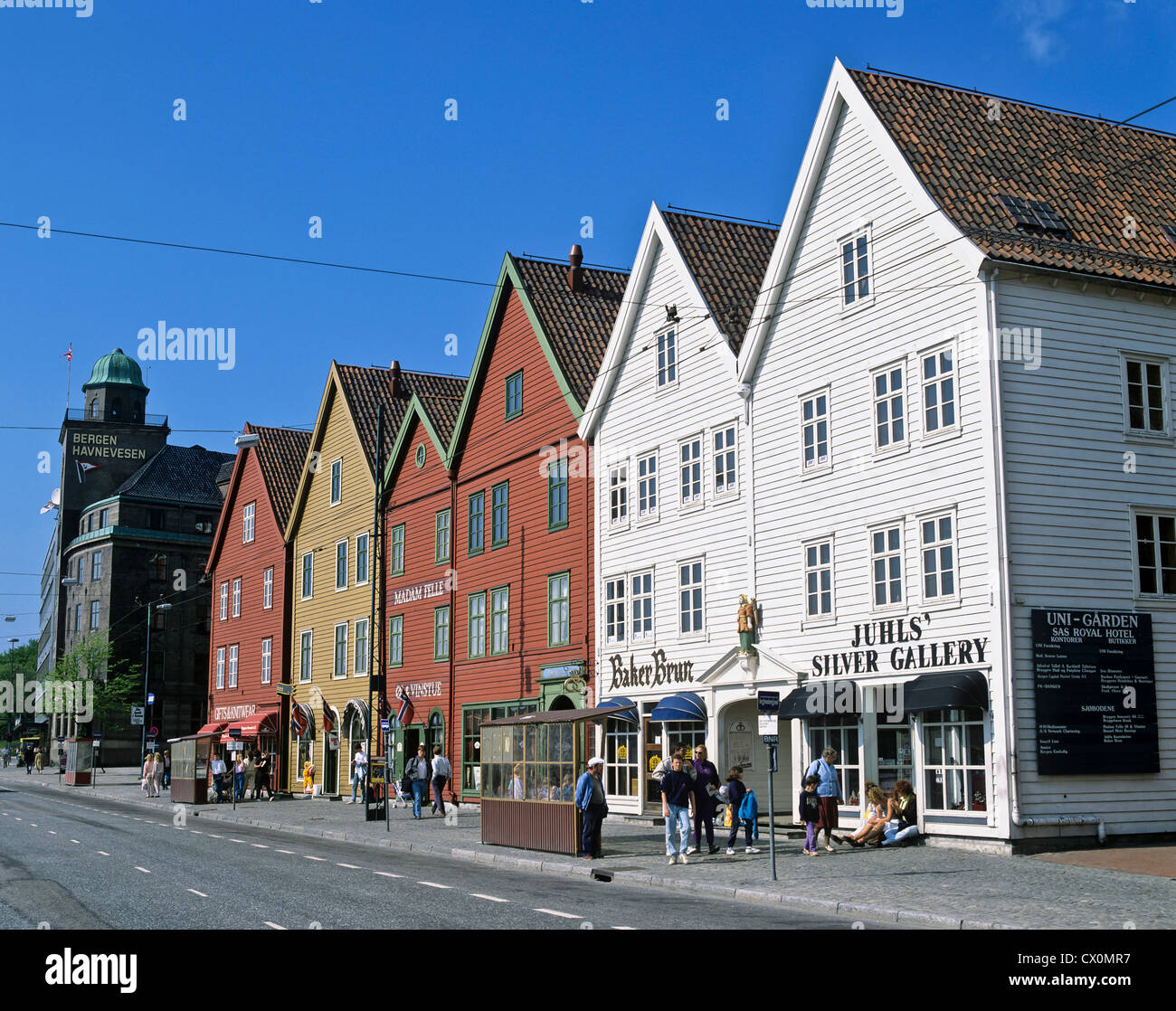 8206. Hanseatic Houses, Bergen, Norway, Europe - Stock Image