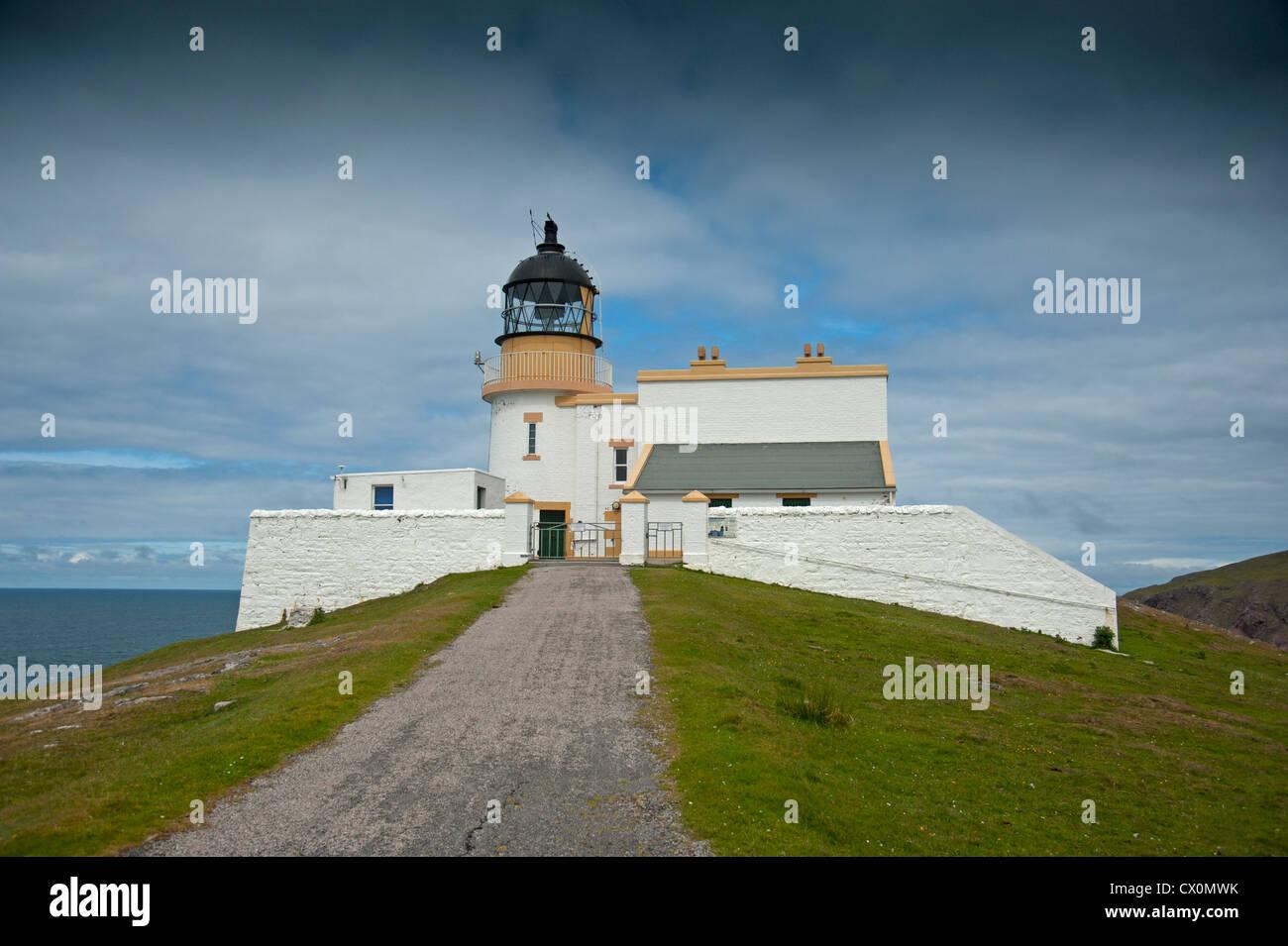 Stoer Head Lighthouse, Clashmore. Raffin. Sutherland, Scotland. SCO 8391 - Stock Image