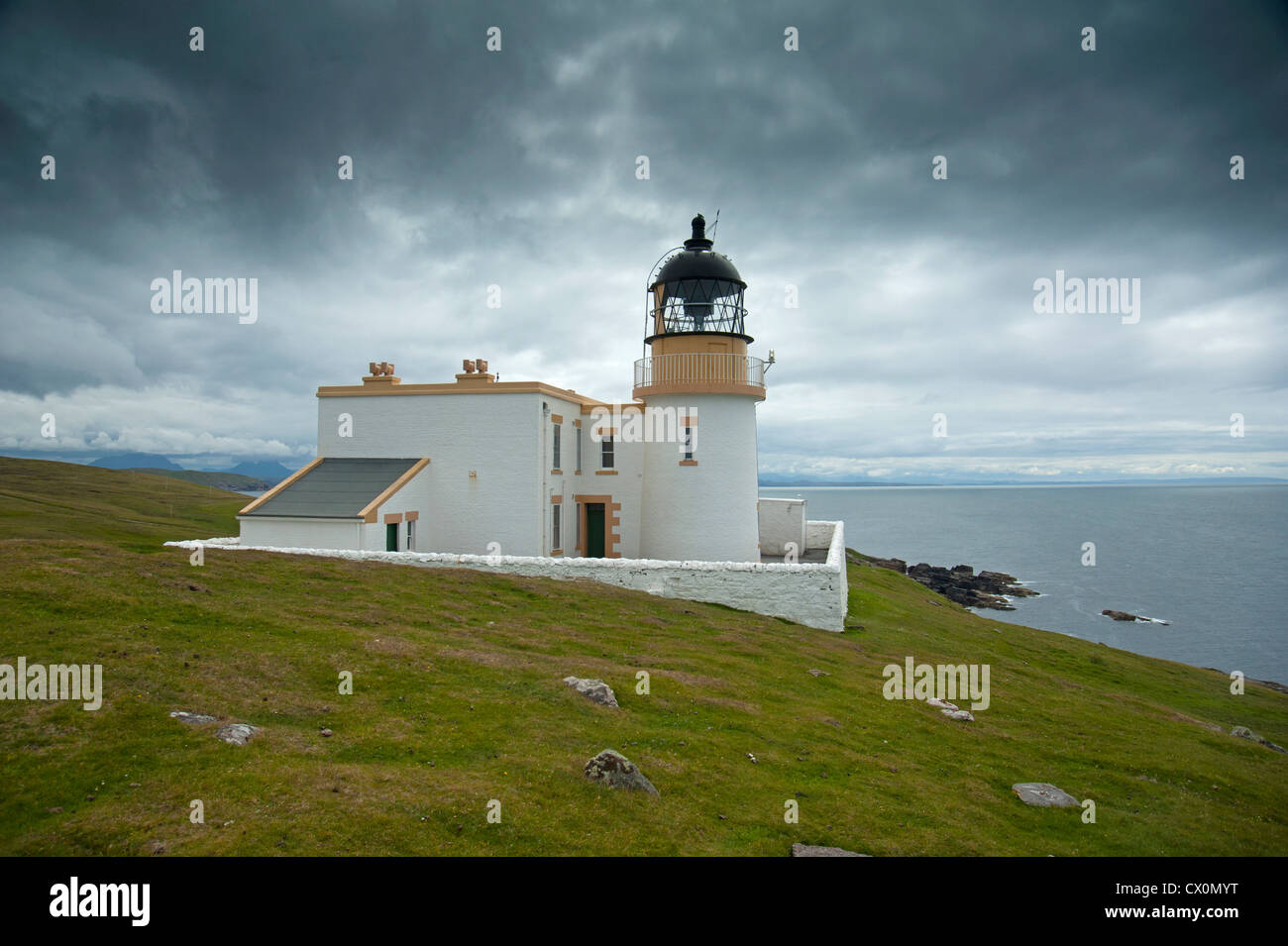 Stoer Head Lighthouse, Clashmore. Raffin. Sutherland, Scotland.  SCO 8394 - Stock Image