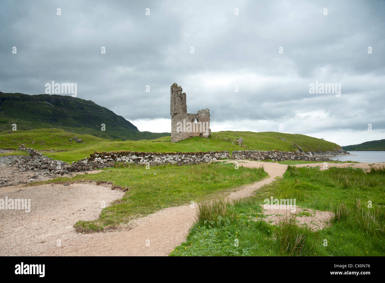 Ardvreck Castle Loch Assynt Sutherland.  SCO 8400 - Stock Image