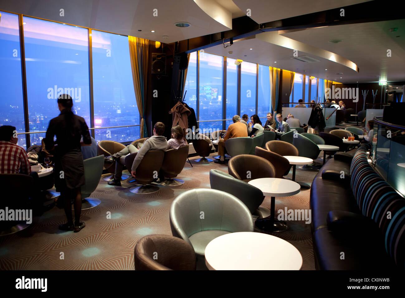 Sky bar Radisson BLU hotel Vilnius Lithuania - Stock Image