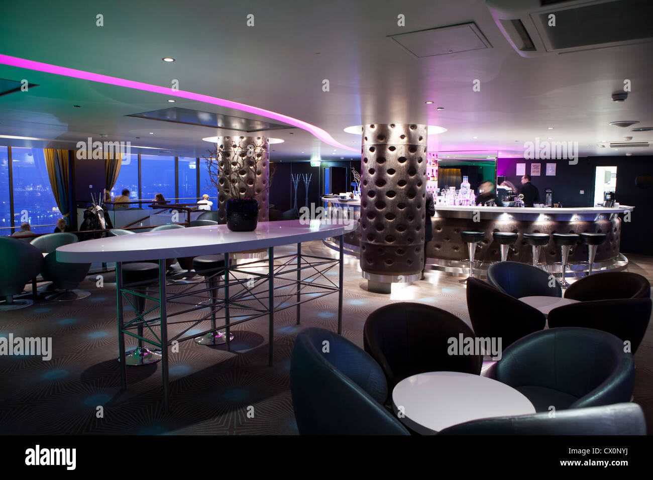 Sky bar Radisson BLU hotel Vilnius Lithuania Stock Photo: 50419030 - Alamy