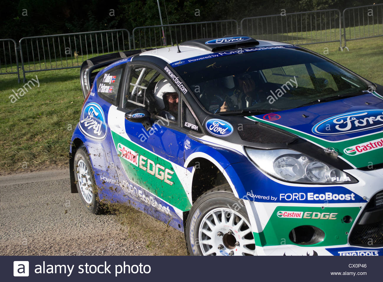 Peta Solberg demonstrates his rally driving skills to Paul Hollywood ...