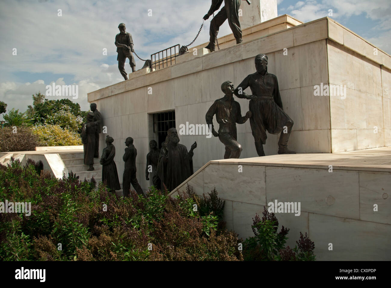 Liberty Monument 1973 to commemorate EOKA release from prison in 1959 and British rule - Stock Image