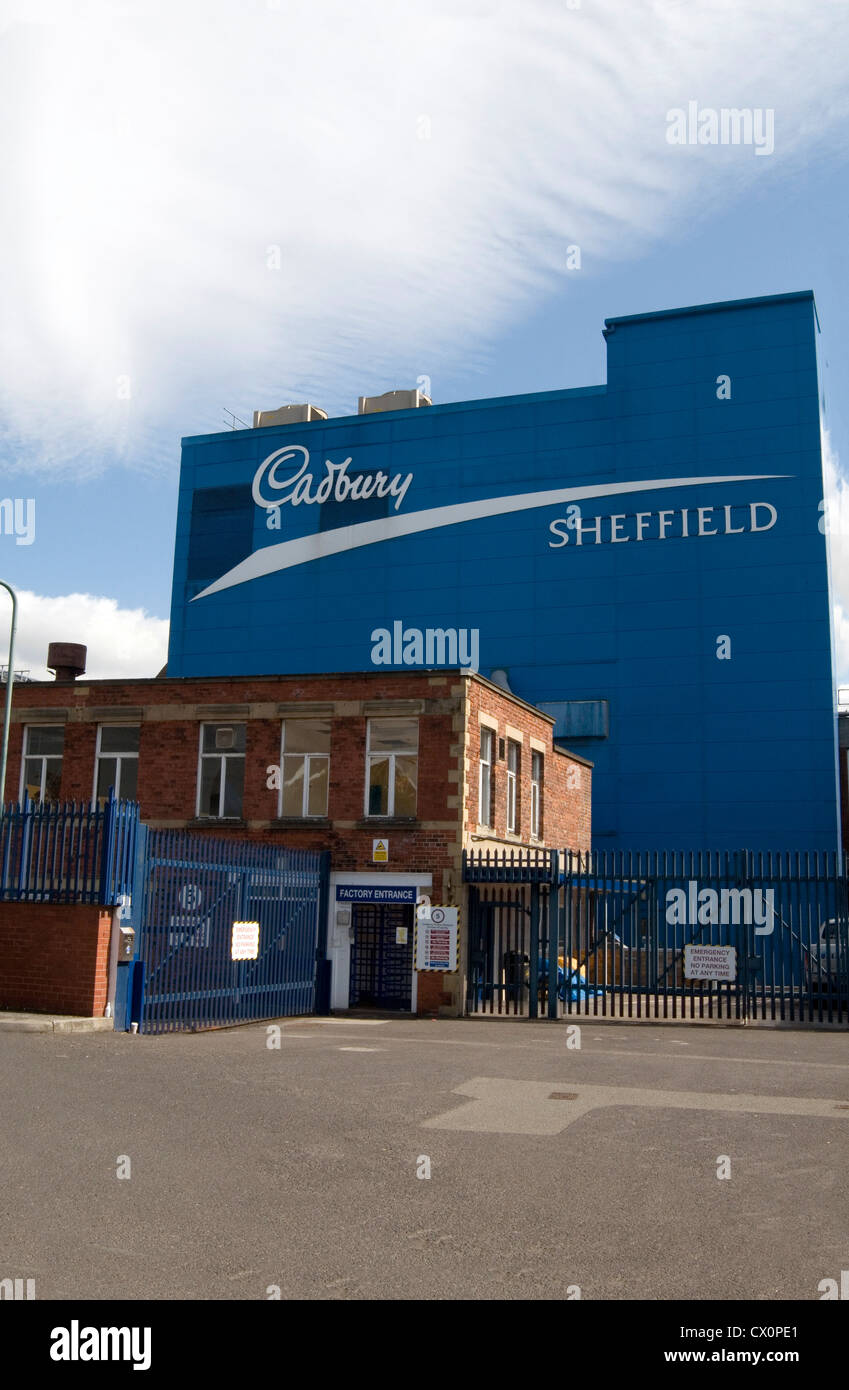 cadbury cadbury's chocolate factory factories in Sheffield uk manufacturing plant - Stock Image