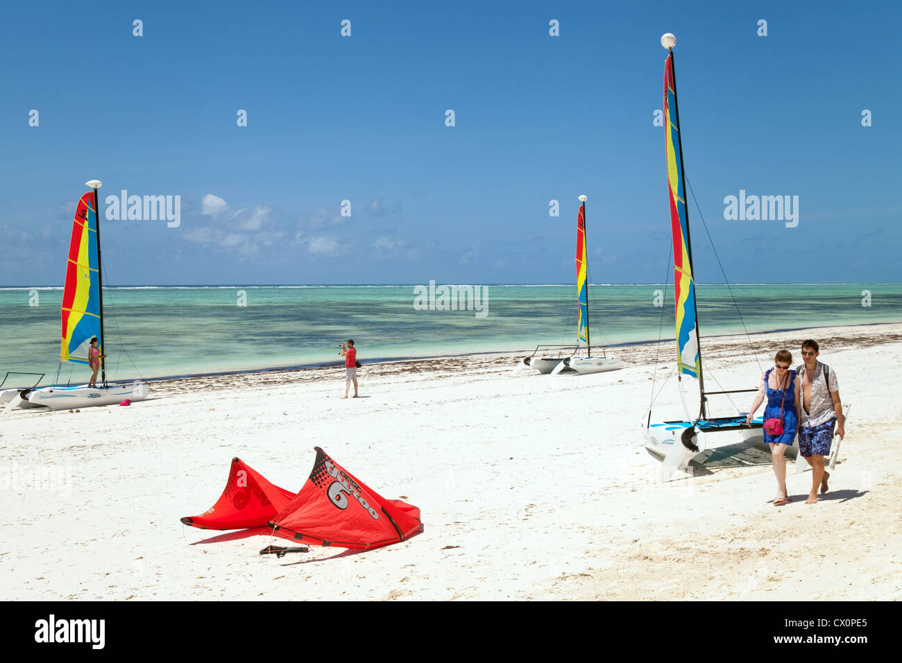 Watersports on Bjewuu beach, Zanzibar Tanzania Africa - Stock Image