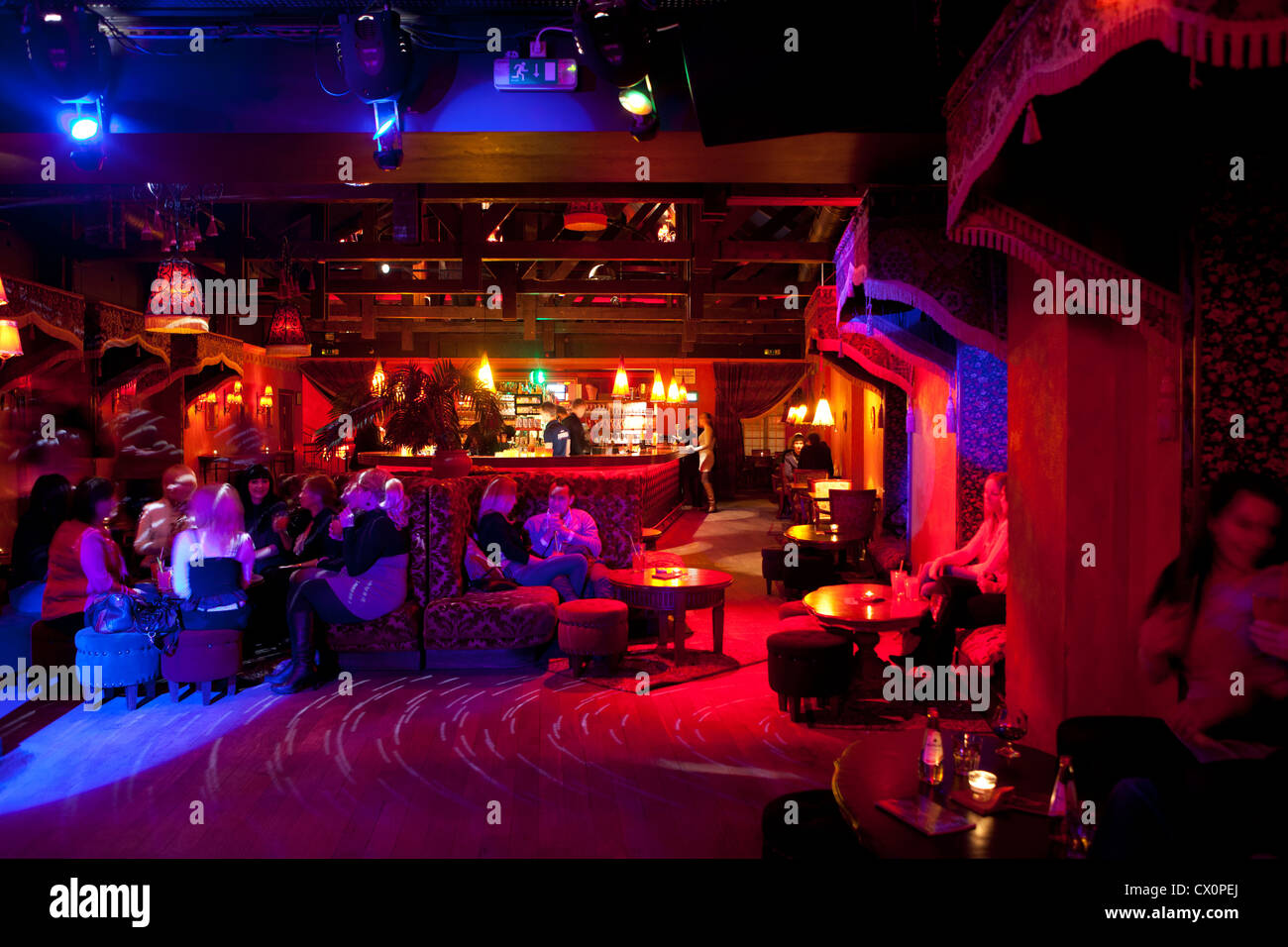 nightlife Vilnius Lithuania - Stock Image