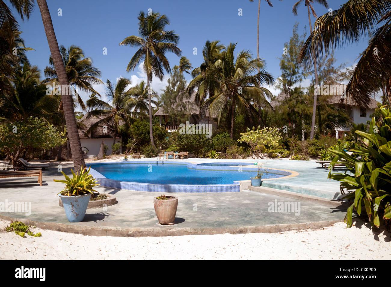 The Luxury boutique Echo Beach Hotel, Zanzibar, Tanzania Africa - Stock Image