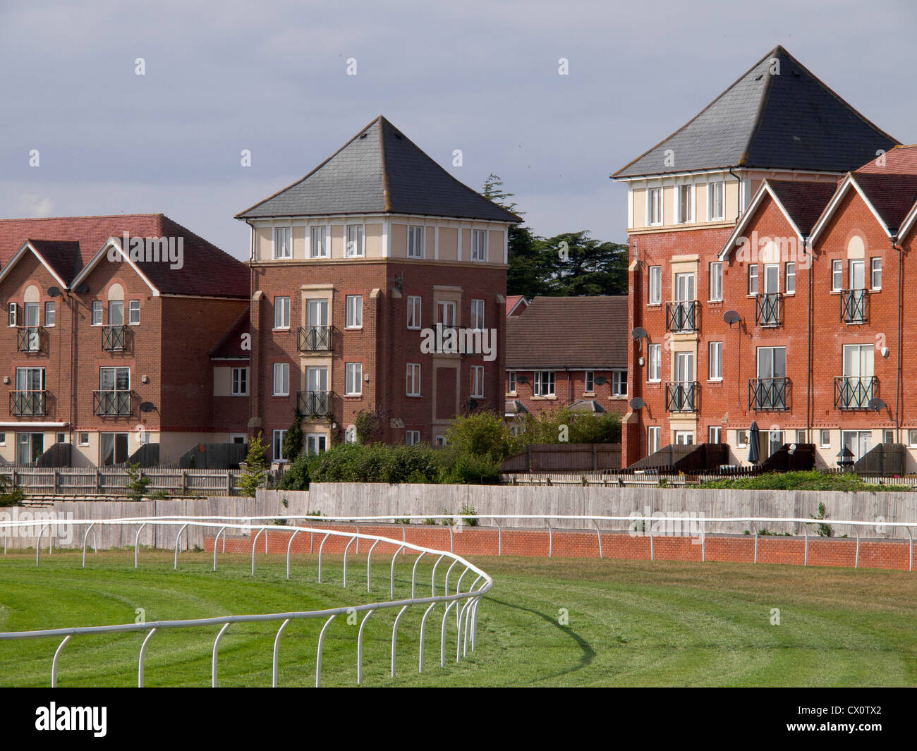 horse race track and buildings - Stock Image