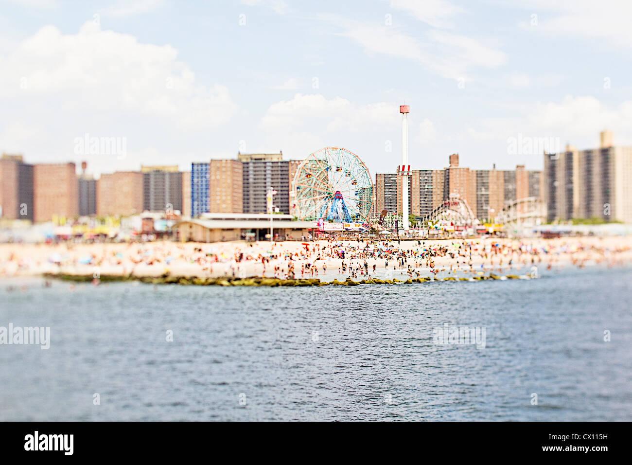 Coney Island beach, Brooklyn, New York, USA - Stock Image