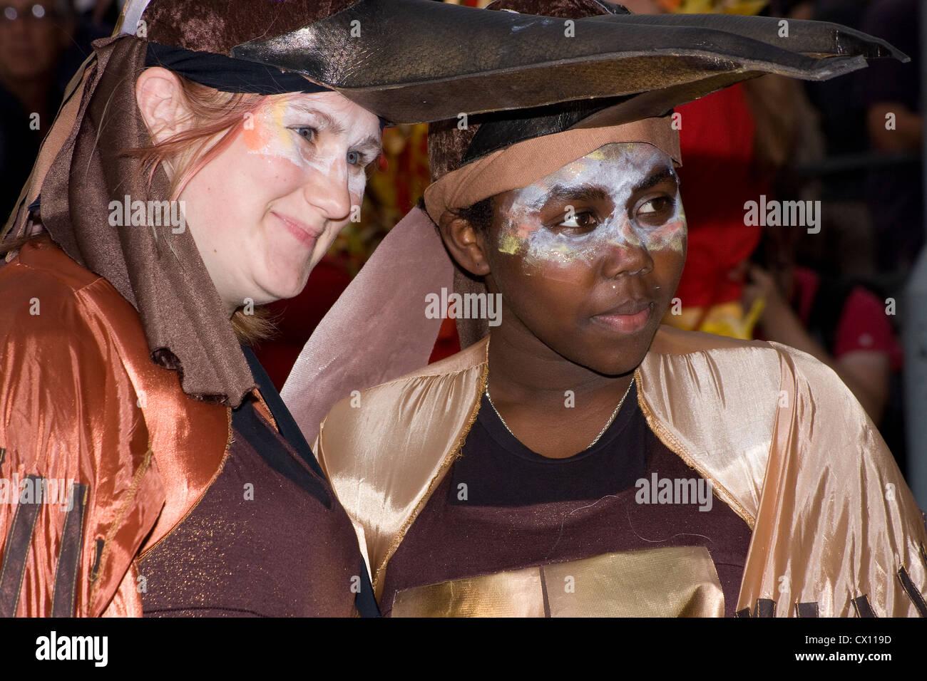 Thames Festival Carnival Upper Ground Southwark - Stock Image