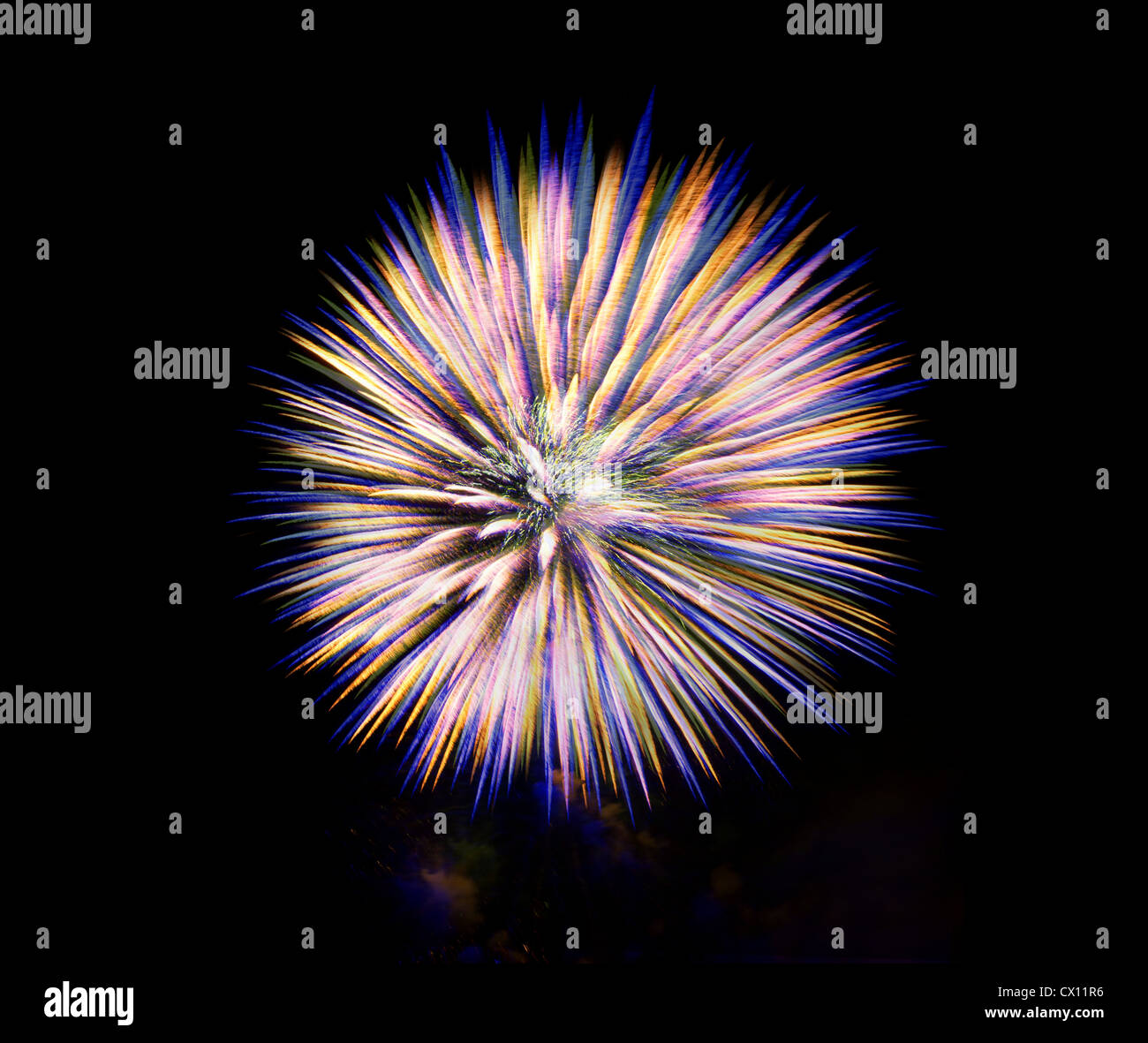 Firework in the sky - Stock Image