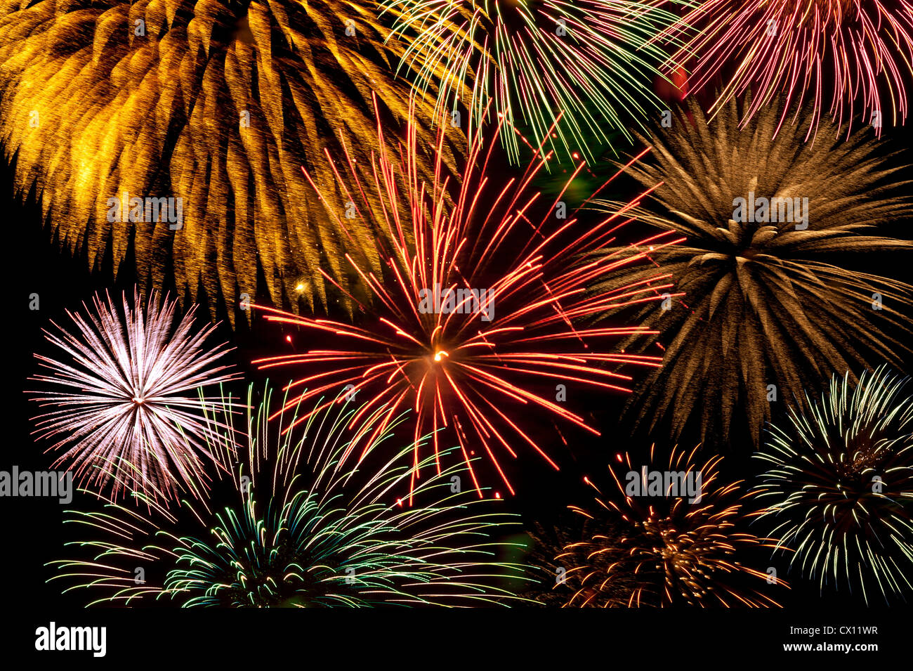 Firework display - Stock Image