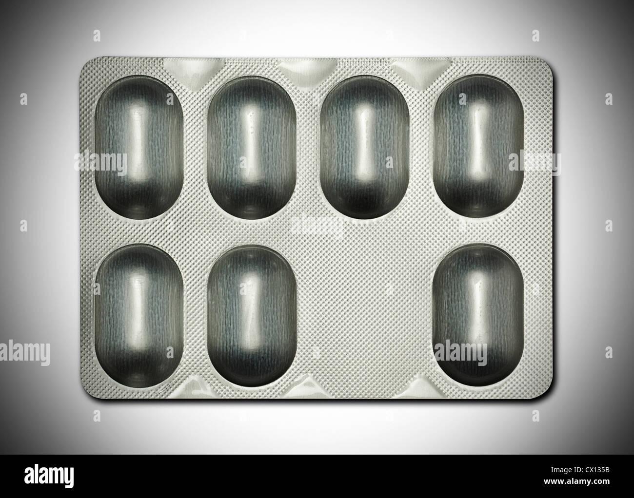 Tablet blister pack - Stock Image
