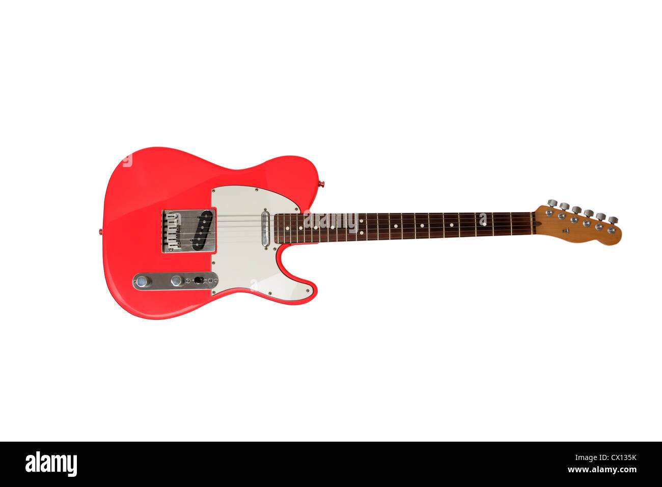 Red electric guitar - Stock Image