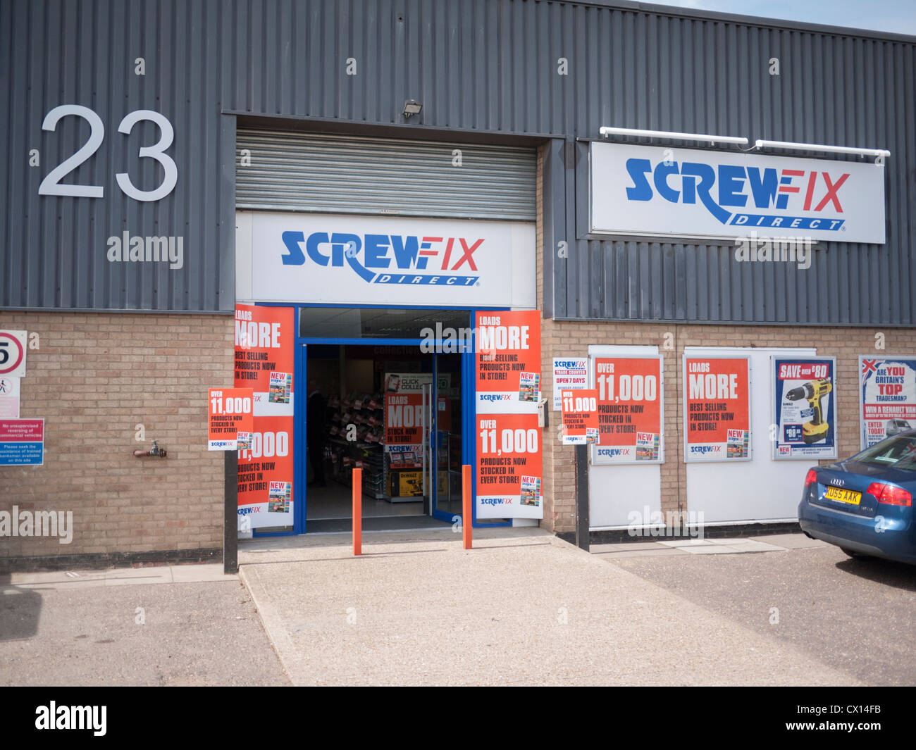 The Screwfix Direct Shop or warehouse in Cambridge UK Stock