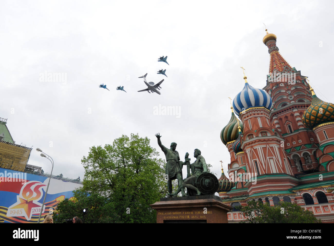 ITAR-TASS 47: MOSCOW, RUSSIA. MAY 7, 2010. The Beriev A-50 Shmel (NATO reporting name: Mainstay), a Russian airborne - Stock Image
