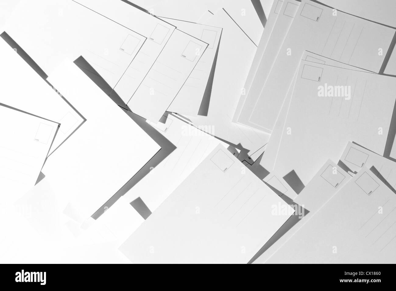 blank postcards - Stock Image